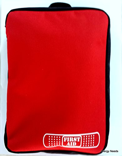 #1 Small First Aid Storage Bag Only with Handle Ideal for Camping,Hiking,Travel,Car,Extreme Sports - Good Quality Guarantee - Best Portable Medical Stuff Organizer Solution