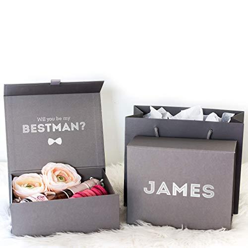 Best Man Proposal Gift Box Groomsman Proposal Gift Box   Personalized...