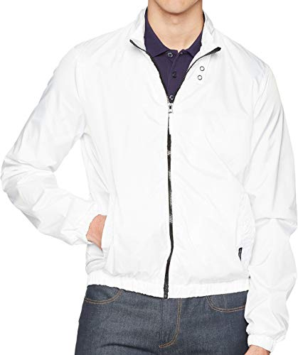 Members Only Men s Packable Iconic Jacket, White, XXL