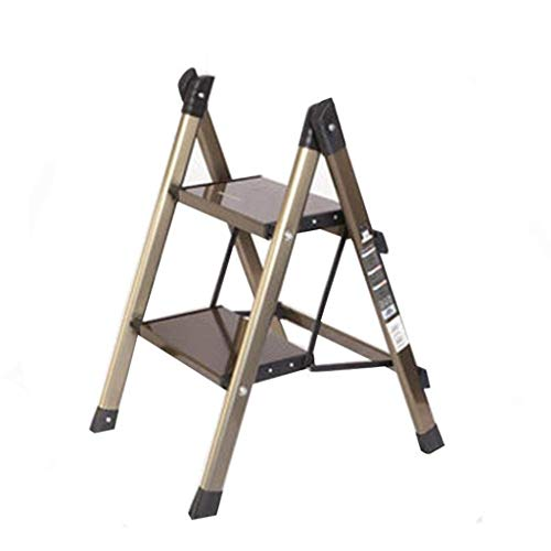 WGEMXC Taburete de Escalera, Taburete Plegable para el Hogar, Taburetes Multifuncionales, Escalera de Tres Pasos Escalera Móvil Escalera de Aluminio Grueso de la Escalera Portátil de la Escalera de l