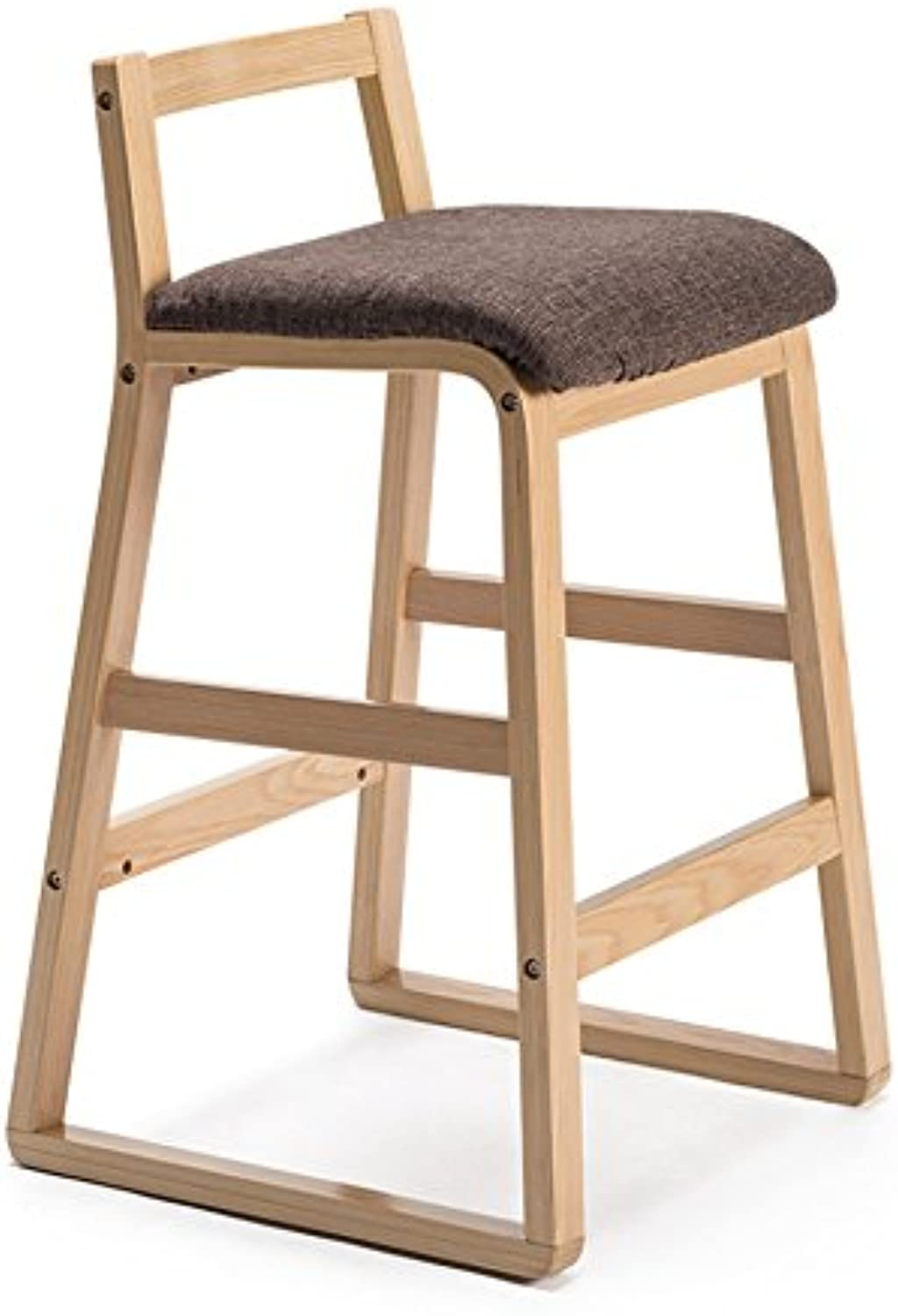 LXY& Bar Chairs, Modern Style Round Stool High Stool Dining Chair Wood Chair Height 81.5cm ( color   C )