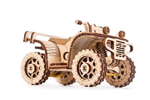 small Wooden Trick 3D Mechanical Model Kit ATV ATV Motorcycle Wooden Puzzle, Build Designer…