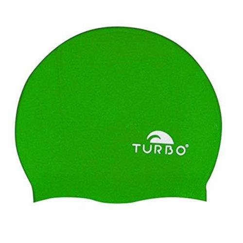 Turbo Silicone–Cuffia da Nuoto Nuoto e pallanuoto per Uomo, Uomo, Silicona, Verde, Taglia Unica