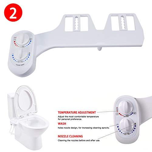 L-DiscountStore Bidet-Toilettensitz, heißes und kaltes Frischwasser mit selbstreinigender einziehbarer Düse reinigt Ihren Rücken für hygienische Körperpflege und Desinfektion