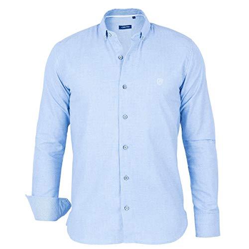 Shilton Kontrast-Ellbogenhemd - Blau - XXL