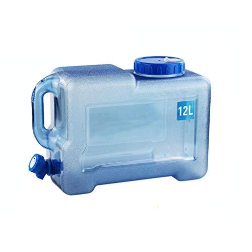 Bidón Plástico con Grifo - Sin BPA, De Grado Alimenticio, Portátil, Apilable, Fácil De Llenar - Supervivencia De Suministro De Agua De Contenedores JNCSX (Size : 12L)