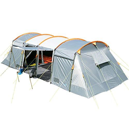 skandika Montana 8 - Tente de Camping Familiale Tunnel - 700 x 310 cm - 8 Personnes