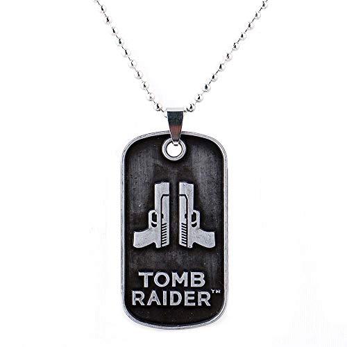 EU_LevinArt Game Rise of the Tomb Raider 20 Jahre Feier Choker Anhänger Halskette Lara Croft Schlüsselanhänger Charm Geschenk für Damen Herren