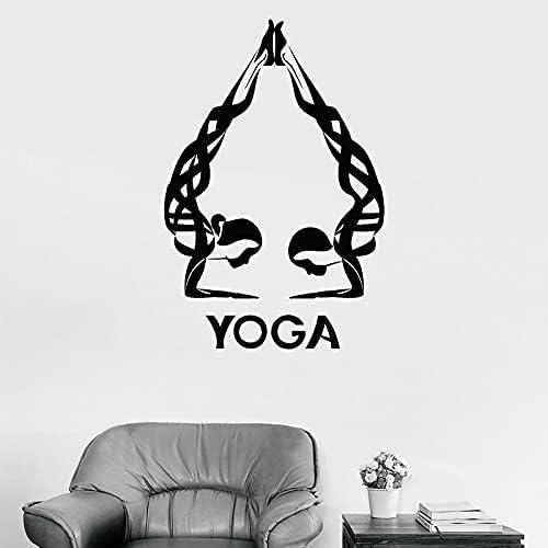 Calcomanía de pared para niña, Spa, Yoga, estudio, habitación, decoración Interior, mujer, relajación, cuerpo, puerta, ventana, vinilo, pegatina 42x62cm