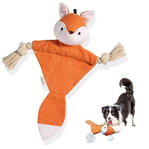 petnf Crinkle Dog Teething Toys for Puppy,Interactive Catnip Kicker Toy for Dog Indoor,Cute Durable Fox Chew Dental Toys for Dogs,Puppies,Healthy,Durable and Portable,Cat Nip Toy