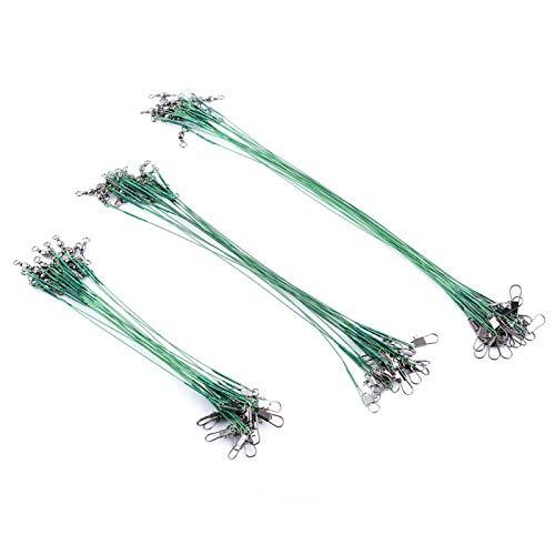 Señuelos de pesca, línea de pesca de rendimiento estable de alta resistencia Spinning Trace Wire Leader para agua dulce (verde)