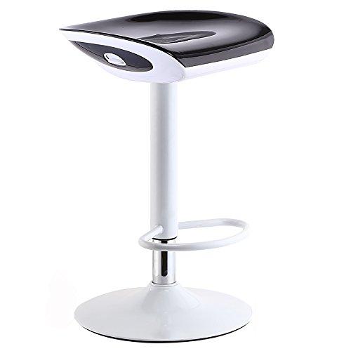 LJHA Tabouret Pliable Tabouret Haut de réception/Tabouret de Bar Simple européen/Chaise de Rotation colorée Chaise Patchwork (Couleur : Noir, Taille : A)