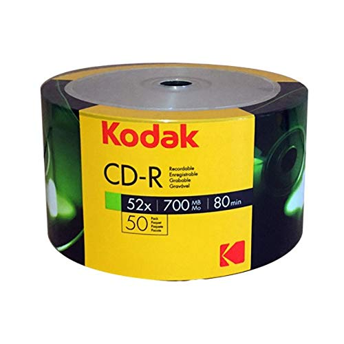 Kodak CD-R 700Mb|80Min 52-fache Schreibgeschwindigkeit, 50er Pack in Folie (Shrink)