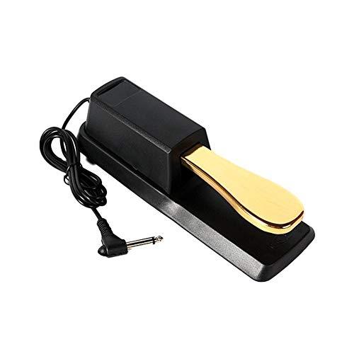 Sustain-Pedal Universal Digital Piano Elektronische Tastatur Sustain Dämpfer Pedal Synthesizer für Elektroklavier, elektronische Organ gold