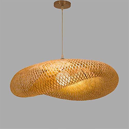 Lámpara de techo única de ratán tropical y mimbre para restaurante, bar, habitación de hotel, lámpara colgante ajustable