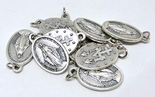 Virgen milagrosa + logotipo 2 originales con anillo de plata 10 medallas