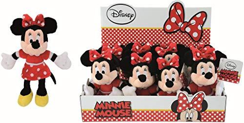 Simba 6315876897 - Plüschfigur Disney Minnie, Rotes Kleid, 20 cm