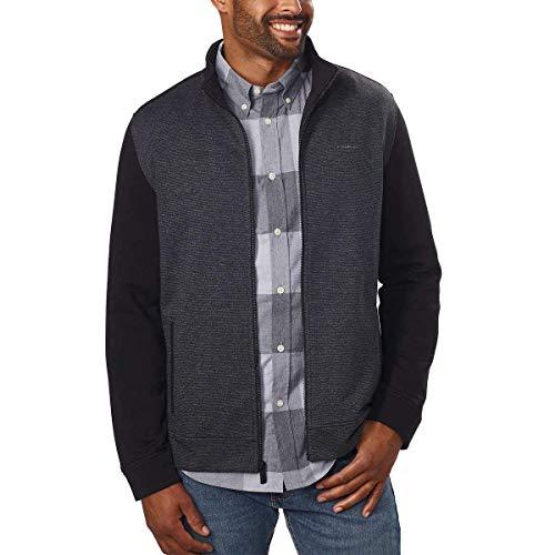 Calvin Klein Men's Full Zip Jacket, Black, 2XL