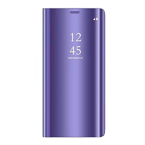 Alsoar®Coque Huawei P9 Plus, Cover 360 °de Protection Intelligente Vue Claire Miroir De Electroplate Placage Kickstand Caractéristique Flip Housse pour Huawei P9 Plus (Pourpre)