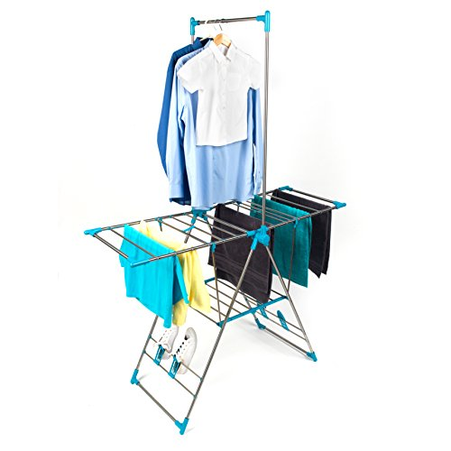 Beldray LA052094 Large Stainless Steel Clothes Horse Airer with High Hanger
