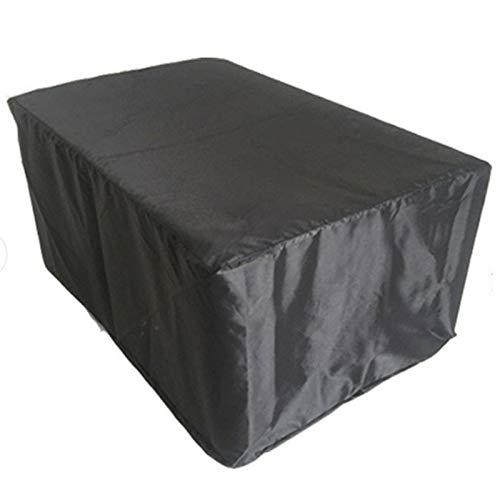 Cubierta al aire libre de la cubierta de los muebles de la cubierta impermeable del polvo de la cubierta de la silla de la tabla de la protección de la mesa-negro, 200* 10