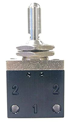 Toggle Valve, 3-Pos, 1/8 In, NPT by Pneumadyne Inc