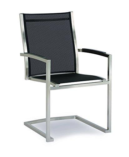 BEST Freischwing-Sessel Marbella, edelstahl/schwarz, 64 x 57 x 93 cm, 47881151