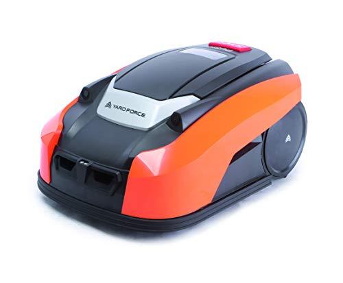 Yard Force X100i Tagliaerba Controllo App rasaerba semovente con Programma Multi-Zona-Robot da Prato a Batteria per, 28 V, Schwarz/Orange
