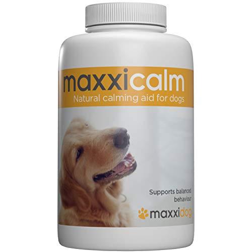 maxxicalm Natürliche Beruhigungsmittel für Hunde - 120 Rescue Tabletten zur Beruhigung vom Hund - Hilft gegen Angst, Trennungsangst, Stress, Gewitter, Feuerwerk - Mit Verhaltensanleitung