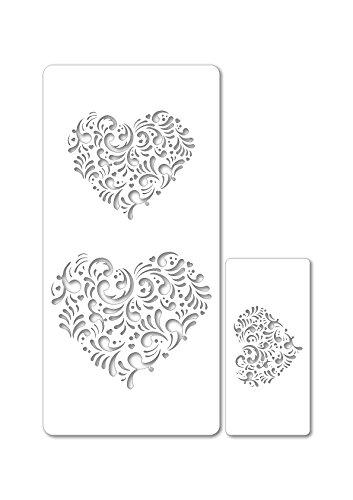 dekofee sjablonen set hart #1
