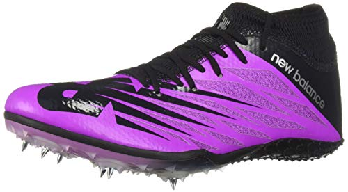 New Balance Women's Short Distance 100 V2 Spike Running Shoe, Voltage Violet/Black, 7 B US