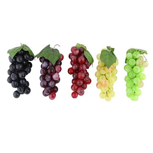 Sourcingmap® 5 STK. Familie Plastik Tisch Dekor Imitation Kunstobst Künstliche Obst Trauben DE de