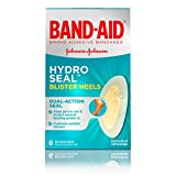 Band-Aid Brand Hydro Seal Adhesive Bandages for Heel Blisters, Waterproof Blister Pad & Hydrocolloid Gel Bandage, Sterile & Long-Lasting, 6 ct