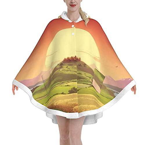 Poncho Blanket,Wearable Blanket Adult,Oversized Hoodie Blanket For Women & Men(Sunset Blanketshoodie)