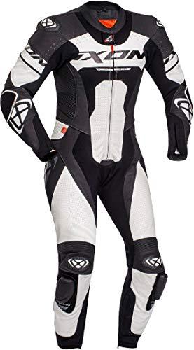 Ixon Jackal 1-Teiler Motorrad Lederkombi Schwarz/Weiß L