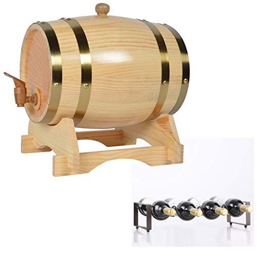 Eiken veroudering vat Whiskey Barrel, 1.5L Vintage Eiken Biervat met flessenrek voor het opslaan van wijn, Rum, Honing Huishoudelijke Wijnvat