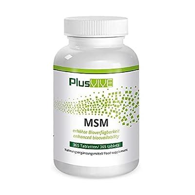 Plusvive MSM 365 Capsules with Bioavailability Matrix, (1000 mg)