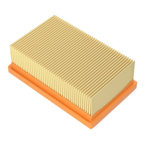 Flat Pleated Filter for Kärcher WD4 WD5 WD6 MV4 MV5 MV6 vacuum cleaner Replacement for 2.863-005.0 filter for Home & Garden wet-dry vacuum cleaner
