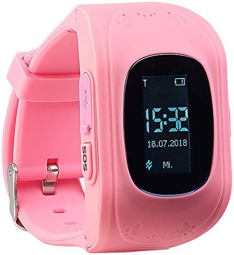 TrackerID Libras rastreador: Reloj Inteligente para niños con función de teléfono y SOS, Seguimiento GPS/LBS, Rosado (GPS Libras rastreador)