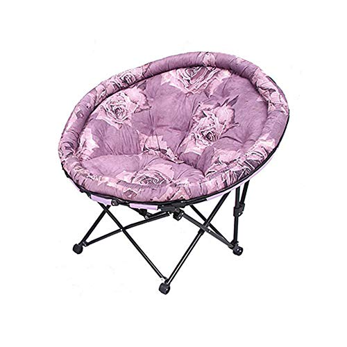 QIDI Inclinable Canapé Lune Chaise Plate-Forme Cabriolet Pliant Rond Acier PP Coton Couverture Longue Fort 5 Couleurs (Couleur : T4)