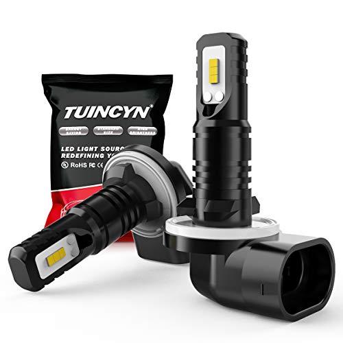 TUINCYN 881 893 899 Ampoules antibrouillard LED 6500K 1600LM Blanc CSP Chips Super Bright DRL Feu diurne de Remplacement Feu antibrouillard 80W Haute Puissance 12V-24V DC (Pack de 2)