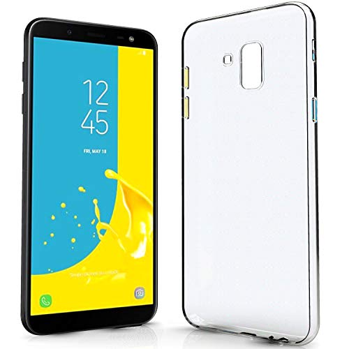NewTop N Cover Compatibile per Samsung Galaxy J6 Plus, Custodia Morbido TPU Clear Silicone Trasparente Slim Case Posteriore