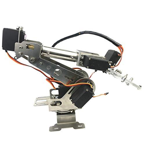 perfeclan Brazo Robótico Programable De Escritorio De 6 Ejes Y Pinzas Y Servos, Ensamblados para Suministros Arduino