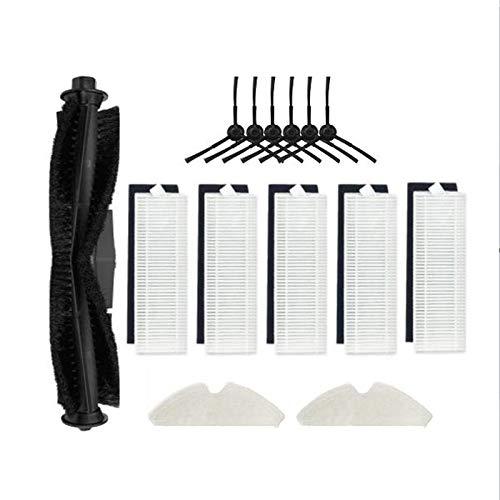 Timagebreze Cepillo Lateral de Rodillo de 14 Piezas Filtro de Aspiradora HEPA Mops Robot para M7 Pro Reemplazo de Accesorios de Aspiradora