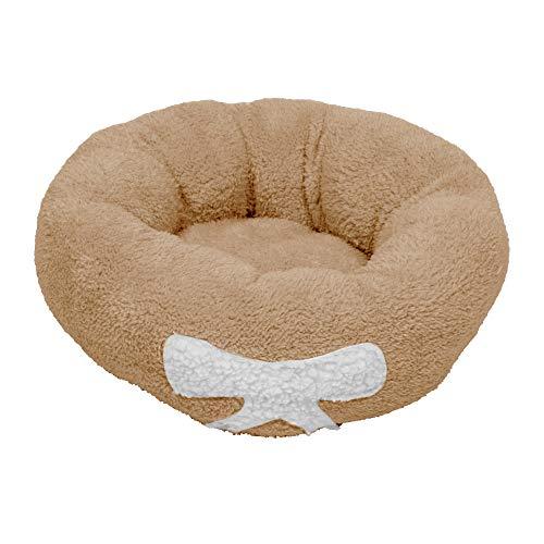 Cama calmante para mascotas, perro o gato, suave y redonda, de felpa, para gatos y perros pequeños, cama redonda para mascotas