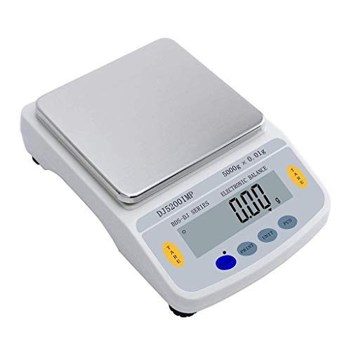 Báscula digital de joyas, 5 kg, 0,01 g, retroiluminación LCD, alta precisión, analítica y multifunción, báscula 5kg/0.01g
