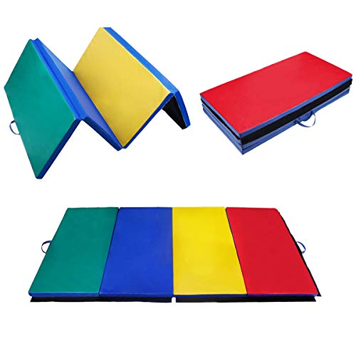 Polar Aurora 4'x10'x2 Thick Folding Gymnastics Exercise Mat Aerobics Stretching Yoga Mats (4 Color)