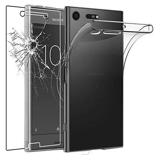 ebestStar - Cover Compatibile con Sony Xperia XZ Premium, XZ Premium Dual Custodia Trasparente Silicone Gel Morbida Sottile, Trasparente + Vetro Temperato [Apparecchio: 156x77x7.9mm, 5.46'']