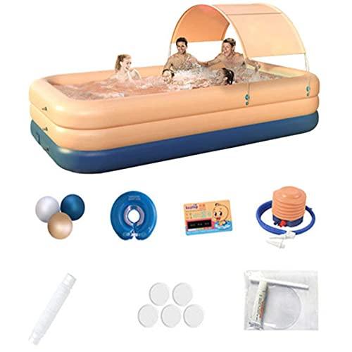 Piscina Inflable para Adultos Y Niños, Sombreado De PVC, Piscina Inflable Automática Inalámbrica, Jardín Interior Y Exterior, Piscina Grande De 2,1 M (Pink)