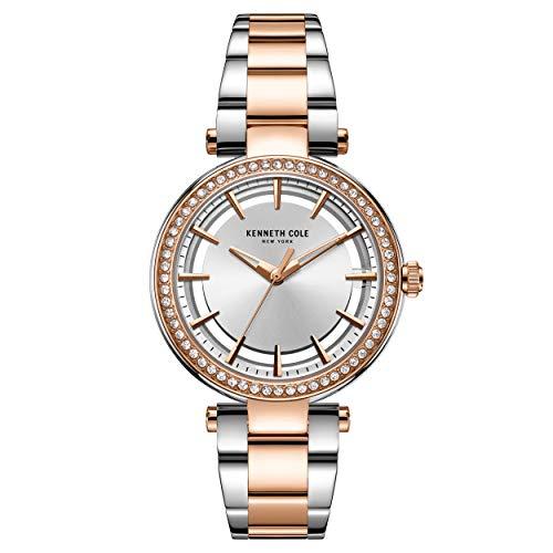 Kenneth Cole KC50798003 - Reloj de Pulsera para Mujer, Color Oro Rosa y Plateado